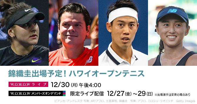 錦織圭出場予定!ハワイオープンテニス