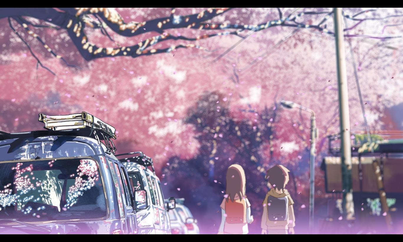 新海誠の桜が美しい秒速5センチメートルの壁網