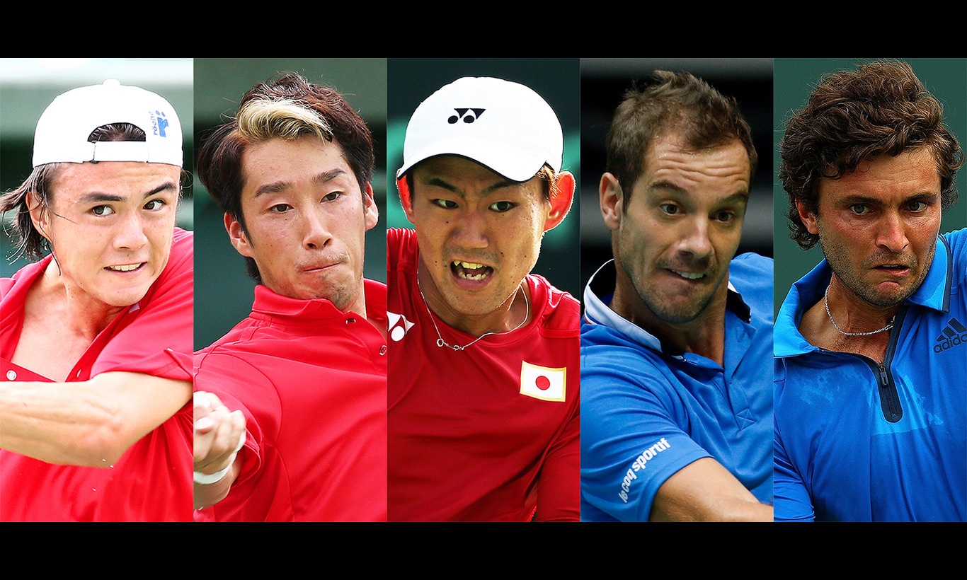 男子テニス国別対抗戦デビスカップ ワールドグループ1回戦 日本vsフランス