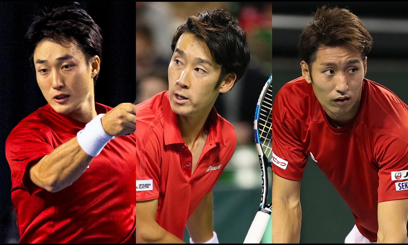男子テニス国別対抗戦デビスカップ ワールドグループ プレーオフ 日本vsブラジル