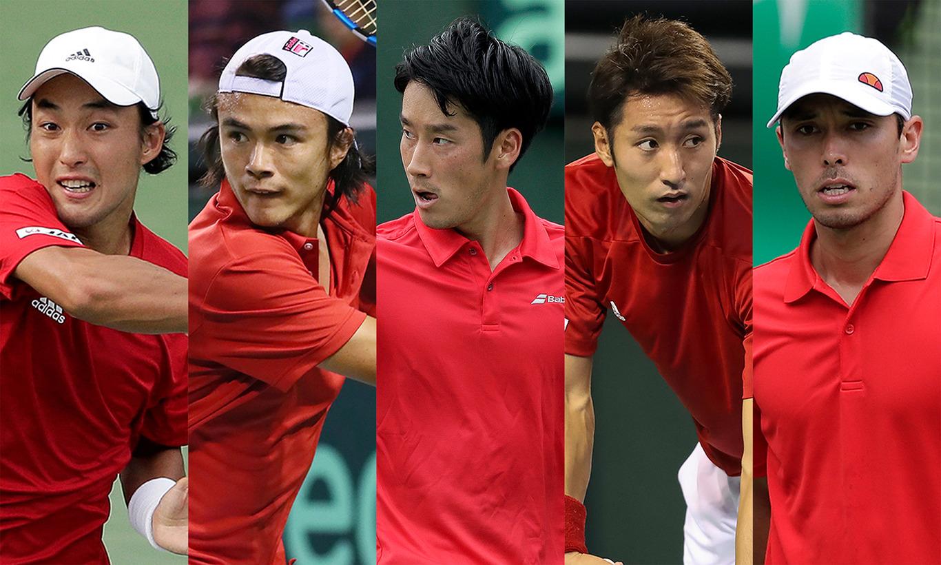 男子テニス国別対抗戦デビスカップ ワールドグループ1回戦 日本vsイタリア