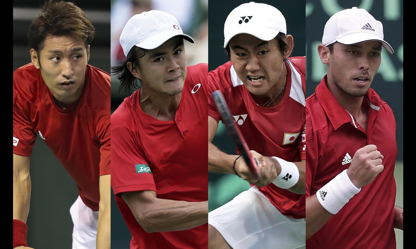 男子テニス国別対抗戦デビスカップ 予選ラウンド 中国vs日本