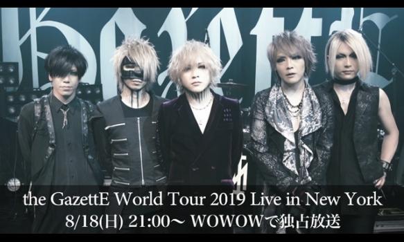 the GazettE World Tour 2019 Live in New York/コメント映像