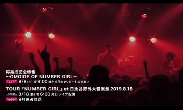 TOUR『NUMBER GIRL』 at 日比谷野外大音楽堂2019.8.18/プロモーション映像