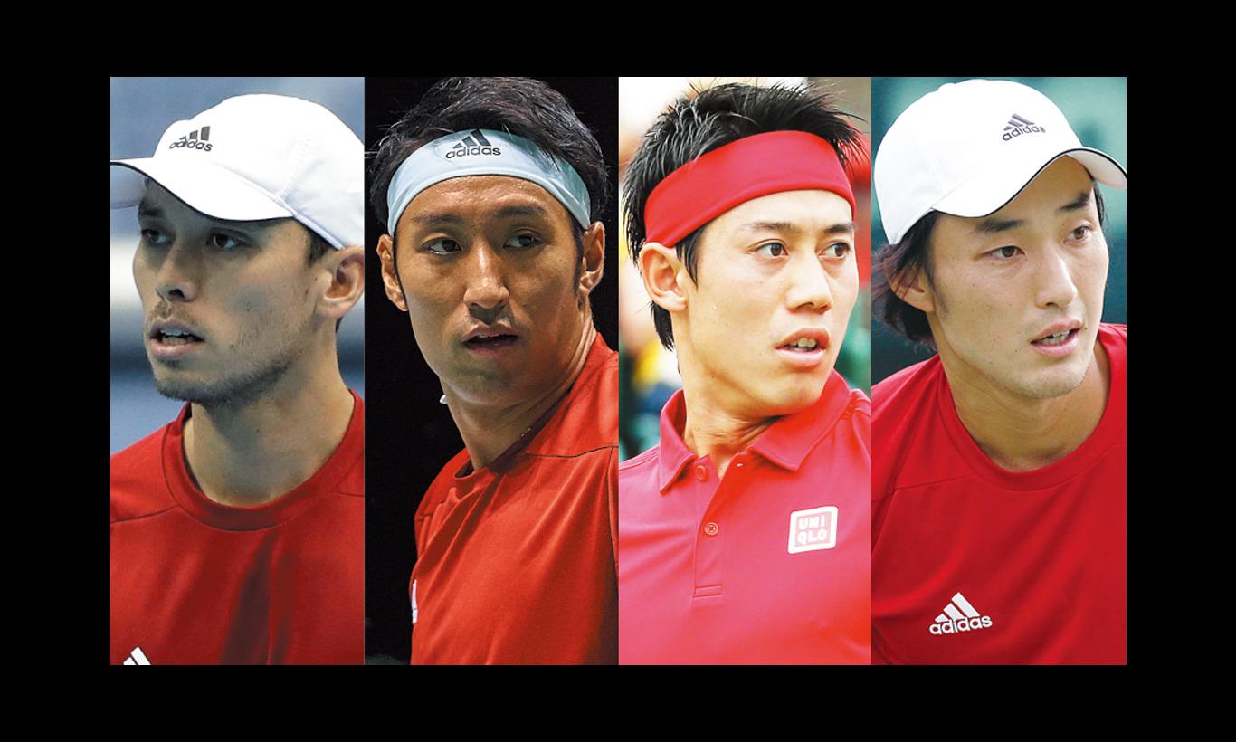 男子テニス国別対抗戦デビスカップ 予選ラウンド 日本 vs エクアドル