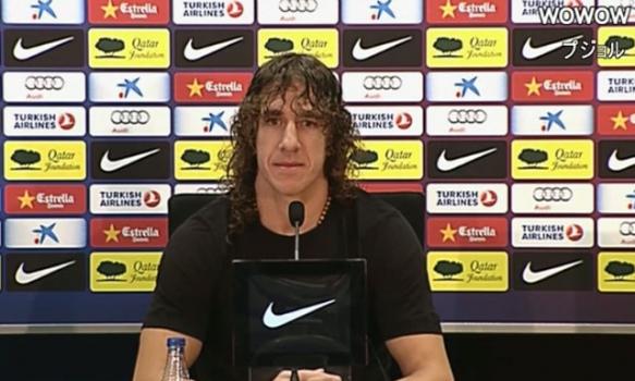 バルセロナ:プジョル 記者会見(2012/12/17)