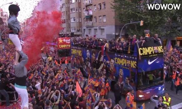 バルセロナ:優勝パレード(2013/5/13)