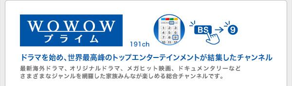 WOWOWプライム(191ch)ドラマを始め、世界最高峰のトップエンターテインメントが集結したチャンネル